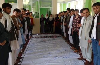 کمپاین جمع آوری یک میلیون امضاء برای تطبیق قانون محو خشونت علیه زنان و مجازات عاملین آن در ولایت بدخشان