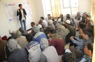 برنامه تعلیمات مدنی و آموزش رای دهندگان در قریه دشت بیست هزاری ناحیه 13-کابل