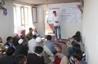 برنامه تعلیمات مدنی و آموزش رای دهندگان در قریه سنگ چال اول ناحیه 13-کابل