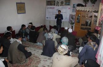 برنامه تعلیمات مدنی و آموزش رای دهندگان در قریه سنگ چال دوم ناحیه 13-کابل